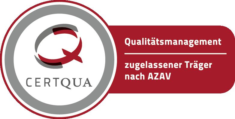 Zertifiziert als Bildungsträger nach AZAV